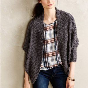 Anthropologie MOTH Amherst Gray Cocoon Cardigan S